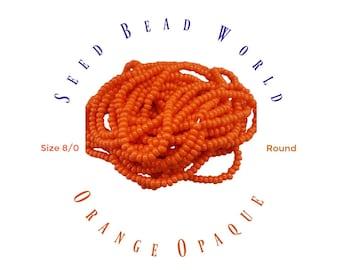 ORANGE  size 8/0 SEED BEAD