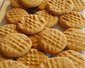 Peanut Butter Cookies/ 2 Dozen/ Homemade Cookies/Party Cookies/ Holiday Cookies/Easter Cookies/Baked Goods