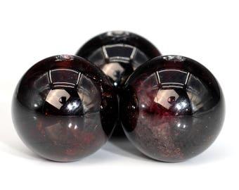 40 / 20 Pcs - 10MM Wine Red Garnet Beads Grade AA Round Genuine Natural Gemstone Loose Beads (101712-404)