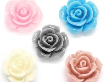 Lovely pink resin rose gray