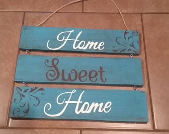 Hanging Home Sweet Home Sign