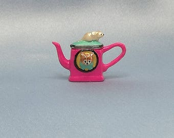 Teapot mouse and cat - pink