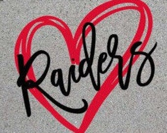 Raiders Heart SVG/DXF/PNG