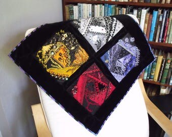 Crazy Patchwork Wall Hanging