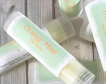 Orange Mint Lip Balm | Lip Gloss | Lip Balm | Beeswax Lip Balm | Natural Lip Care | Lip Butter | Orange Mint Chapstick | Organic Lip Balm