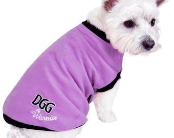 Dog Polar Fleece Jumper Purple Design
