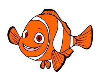 Nemo Svg file, Svg Cutting file, Disney Svg file, Svg for Silhouette, Svg for Circut, Nemo Cut files, Svg files, Svg Clipart