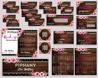 SALE!! Piphany Marketing Kit, Piphany Bundle, Custom Piphany Package, Piphany Cards, Wooden Cards, Watercolor Cards, Digital files PP05