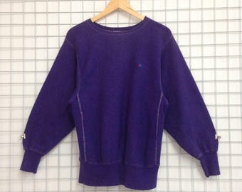 Vintage Champion Sweatshirt Small Logo Nice Design