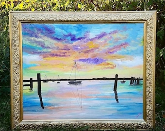 Colorful Sailboat Painting