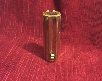 parfumerie et cosmétique vintage, ancien tube de rouge à lèvre à système, Anselme, old lipstick with system