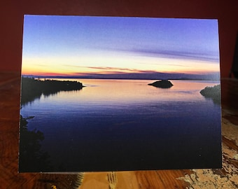 Puget Sound at Dusk Note Card
