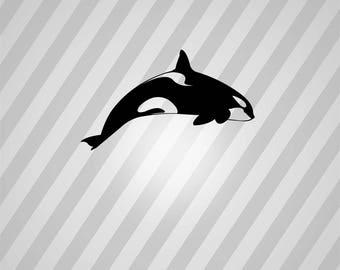 orca whale Silhouette - Svg Dxf Eps Silhouette Rld RDWorks Pdf Png AI Files Digital Cut Vector File Svg File Cricut Laser Cut