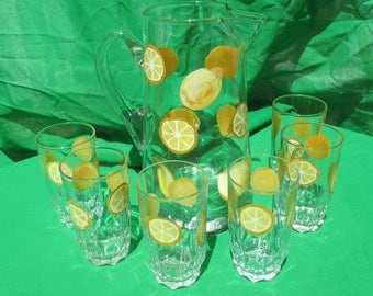 Pitcher and glasses sets