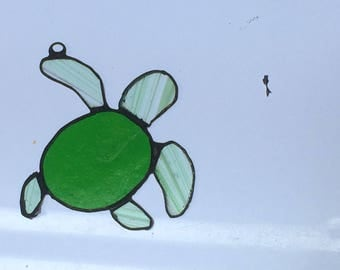 Baby Turtle in Stained Glass