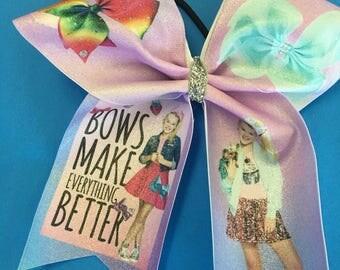 JoJo Siwa JoJo Bow Bows Make Everything Better Cheer Bow Sparkle