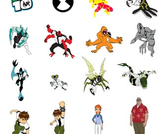 Ben 10 Svg/Eps/Png/Jpg/Cliparts,Printable, Silhouette and Cricut File !!!