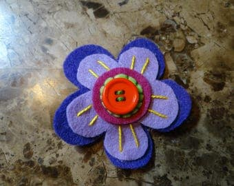 Flower Felt Hair Clip, Original Hair Clip, Flower Hair Clip, Hair Clip for Girls