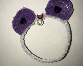 TsumPlushDaddy Original - White with Purple Ears