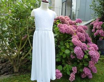 "Communion dress ""Carolina"", evening dress, flower girl dress, size 134, wedding, lace,"