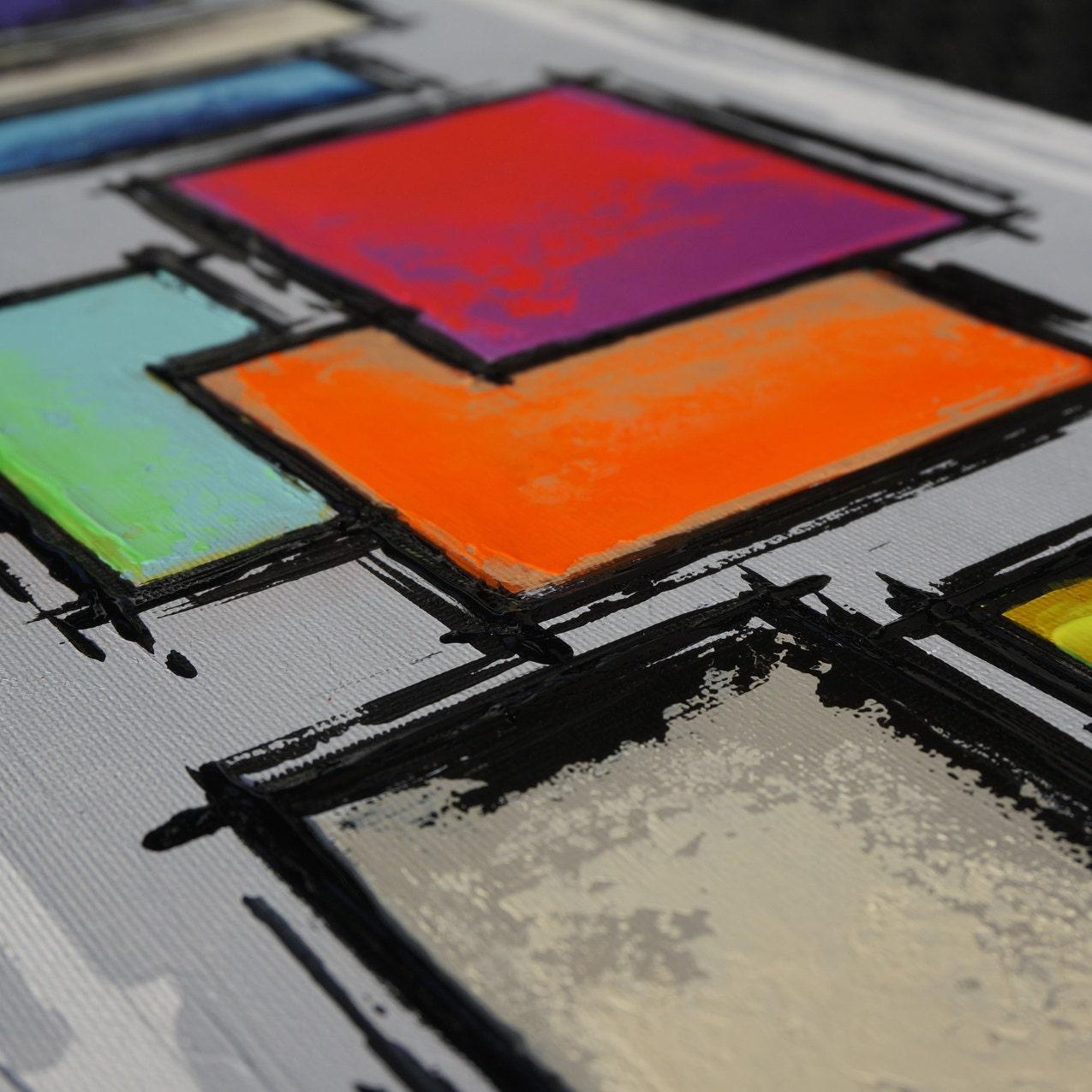 Peinture color e abstraite contemporaine for Peinture geometrique contemporaine
