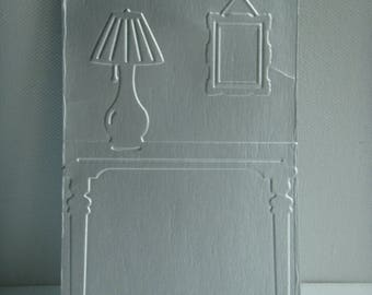 Cut out 100% recycled brick milk embossed front chimney frame and lamp creation