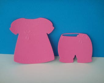 All clothing pink baby dress and shorts