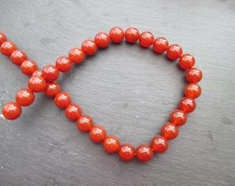 2 carnelian 12 mm - rust Orange gemstones beads