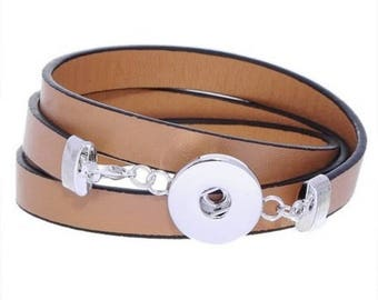 Bracelet 3 tours for Chunk leatherette.
