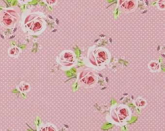 FABRIC Coupon fabrics 45 cm x 55 cm, flowers, English, Summer Loft