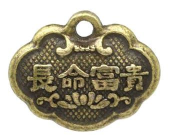 Set of 45 charms pendant Chinese bronze