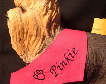 Scarf tie Fuchsia to customize for your dog size XXS-XS-S
