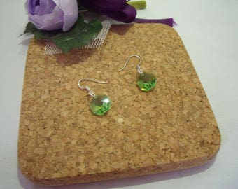 Summer Sale! Peridot Earrings - Crystal AB - August Birthstone - Swarovski Crystal Earrings, Wedding, Birthday, Christmas
