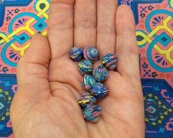 """Mosaic"" handmade paper beads, unique designs."