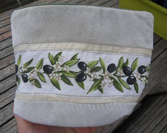 OLIVE fabric makeup bag