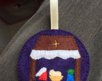 Christmas hand stitched felt ball