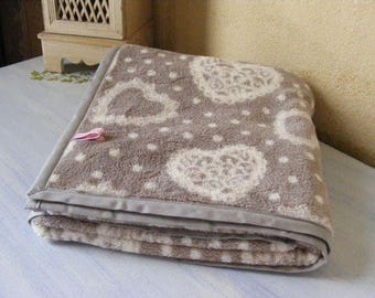 """Cover fabric """"Comforter"""" hearts and dots"""