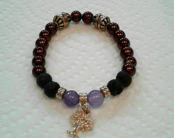 Tree of life diffuser bracelet, diffuser bracelet,beaded bracelet