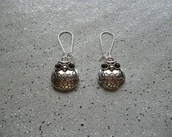 Beautiful owls earrings in silver