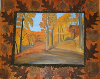 painted in oil on autumn colors