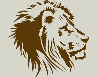 Lion. Lion head. Lion stencil. (Ref 279) adhesive vinyl stencil