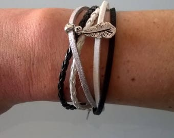 Multiple threads with hook bracelet