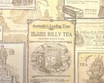Patchwork paper towel tea tags