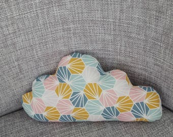 cushion cloud graphic and pastel colors