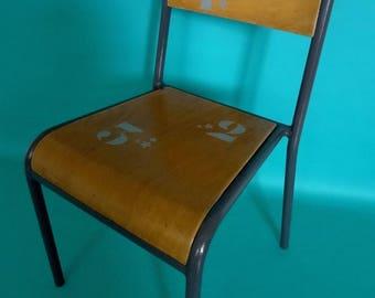 Vintage school Chair makeover of STELLA brand