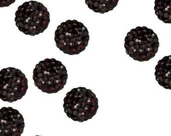 Garnet 4mm Crystal beads