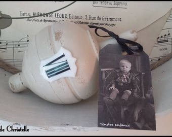 """Great old wooden spinning patina """"Childhood"""""""
