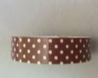 Brown polka dots white tape
