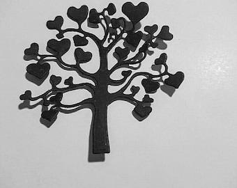 Heart tree for scrapbooking die cuts