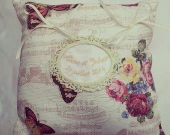 Wedding - shabby chic ring cushion